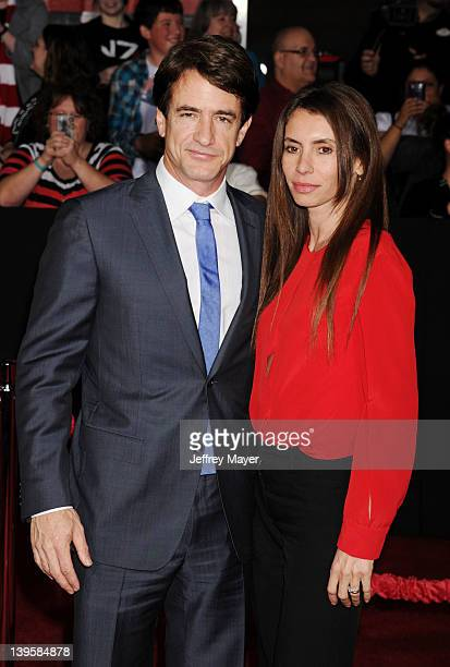 Dermot Mulroney and Tharita Catulle attend the 'John Carter' Los Angeles premiere held at Regal Cinemas LA Live on February 22 2012 in Los Angeles...