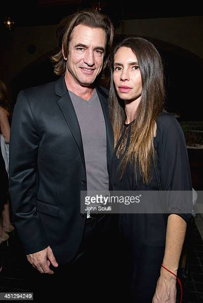 Dermot Mulroney and Tharita Catulle attend the Weinstein Company's holiday party at RivaBella on November 21 2013 in West Hollywood California