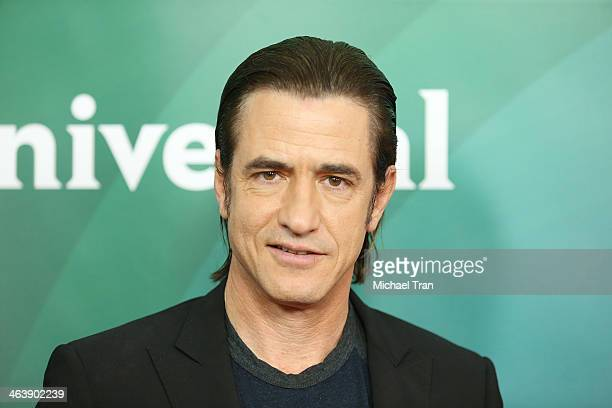 Dermot Mulroney arrives at the NBC/Universal 2014 TCA Winter press tour held at The Langham Huntington Hotel and Spa on January 19 2014 in Pasadena...
