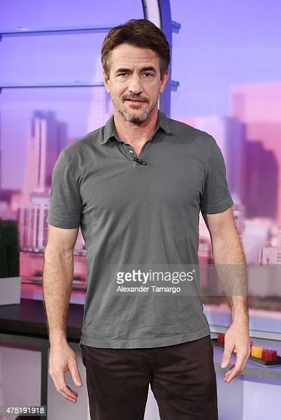 Dermot Mulroney is seen on the set of 'El Gordo y la Flaca' to promote their film 'Insidious Chapter 3' at Univision Studios on May 29 2015 in Miami...