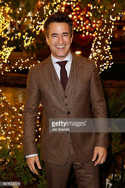 Dermot Mulroney poses for a photo prior to the World Premiere Screening of 'Northpole Open for Christmas' at The Grove on November 17 2015 in Los...