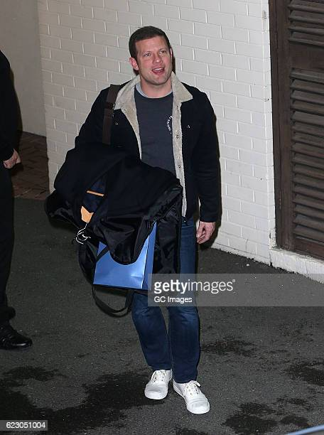 Dermot O' Leary is seen leaving the Fountain Studios after filming X Factor on November 13 2016 in London England