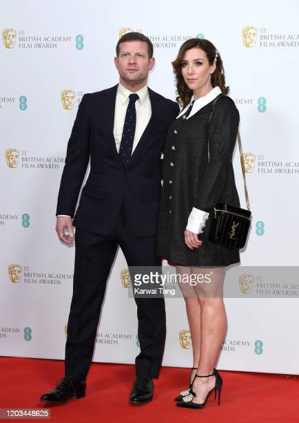 Dermot O'Leary and Dee Koppang attend the EE British Academy Film Awards 2020 Nominees' Party at Kensington Palace on February 01 2020 in London...