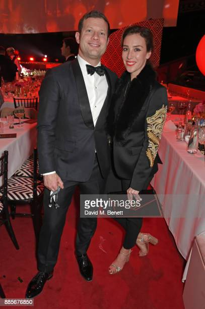 Dermot O'Leary and Dee Koppang O'Leary attend The Fashion Awards 2017 in partnership with Swarovski after party at Royal Albert Hall on December 4...