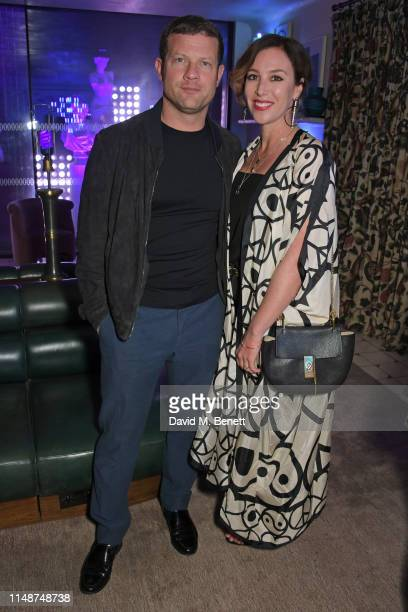 Dermot O'Leary and Dee Koppang O'Leary attend the GQ Style and Browns party to celebrate LFWM June 2019 at Soho House on June 9, 2019 in London,...