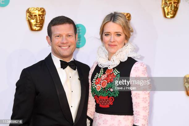 Dermot O'Leary and Edith Bowman attend the EE British Academy Film Awards at Royal Albert Hall on February 10 2019 in London England
