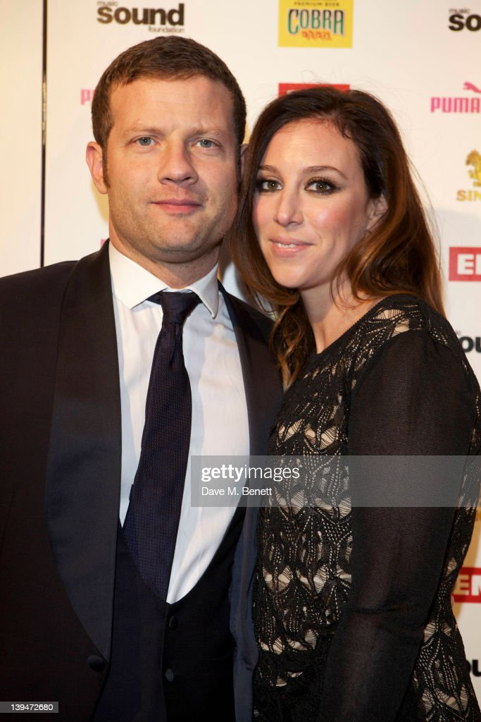 Dermot O'Leary and guest attend The EMI Puma Cobra post BRIT awards party at the O2 on February 21, 2012 in London, England.