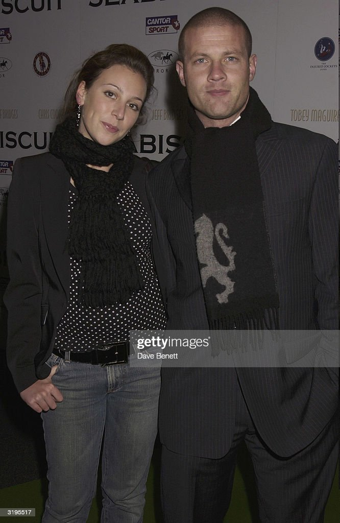 Dermot O'Leary and his girlfriend attend the UK Premiere of 'Sea Biscuit' at Warner West End cinema followed by party at Park Lane Hotel on October 28, 2003 in London.