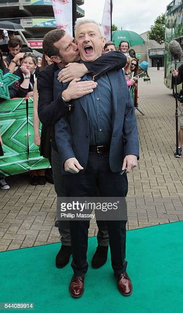 Dermot O'Leary and Louis Walsh arrive at the Dublin X Factor auditions at Croke Park on July 1 2016 in Dublin Ireland