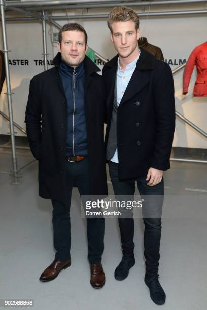 Dermot O'Leary and Roger Frampton attend the Belstaff AW18 Mens Womens Presentation during London Fashion Week Men's January 2018 on January 8 2018...