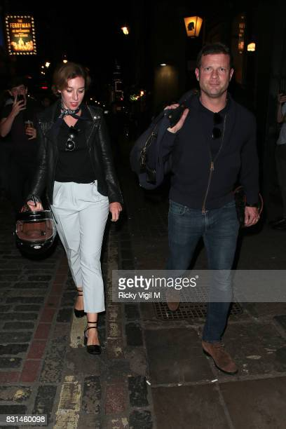 Dermot O'Leary and wife Dee Koppang seen out and about in Soho on August 14 2017 in London England