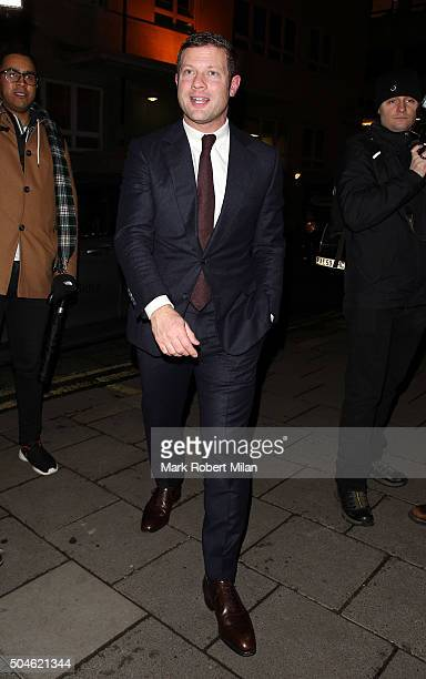 Dermot O'Leary attending the GQ Closing Dinner London Collections Men Autumn Winter 2016 on January 11 2016 in London England