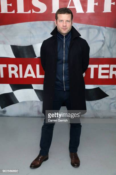 Dermot O'Leary attends the Belstaff AW18 Mens Womens Presentation during London Fashion Week Men's January 2018 on January 8 2018 in London England