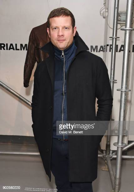 Dermot O'Leary attends the Belstaff presentation during London Fashion Week Men's January 2018 at The Vinyl Factory Gallery on January 8 2018 in...