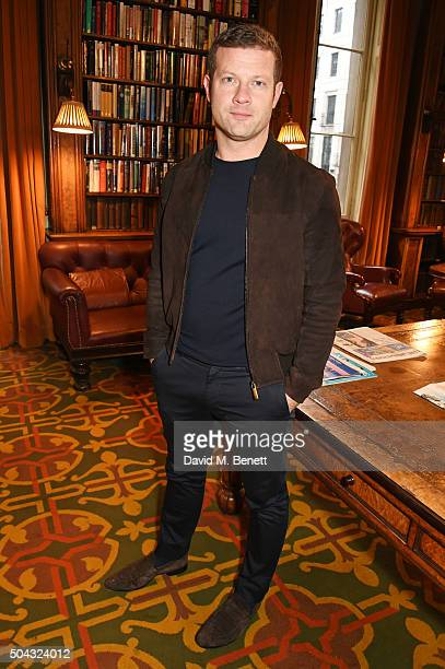 Dermot O'Leary attends the Pringle Of Scotland Menswear Autumn/Winter 2016 show during London Collections Men on January 10 2016 in London England