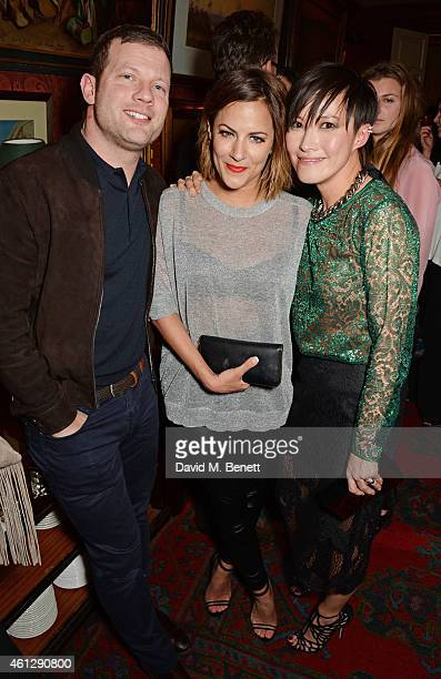 Dermot O'Leary Caroline Flack and Sandra Choi attend the Esquire Jimmy Choo party the official launch party of London Collections Men AW15 at Marks...