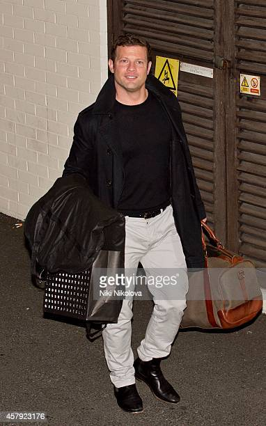 Dermot O'leary is seen leaving 'The X Factor' held at Fountain Studios Wembley on October 26 2014 in London England