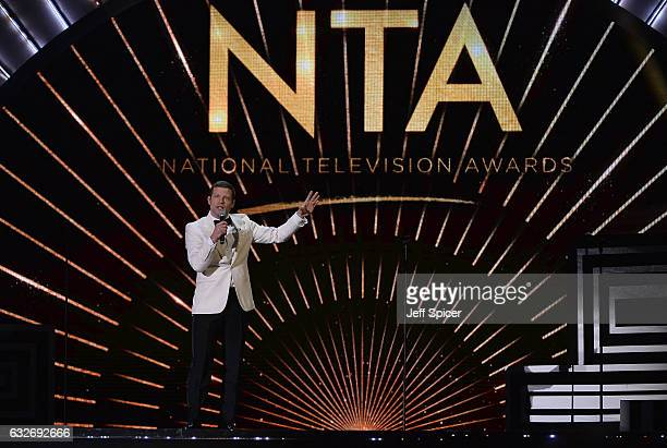 Dermot O'Leary on stage during the National Television Awards at The O2 Arena on January 25 2017 in London England