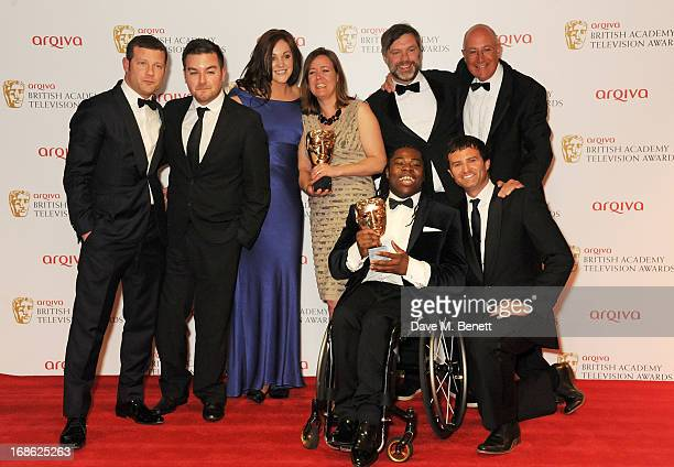 Dermot O'Leary poses with Alex Brooker Rachel Lathan Deborah Poulton Ade Adepitan Gary Franses and Giles Long winners of the Sport and Live Event...