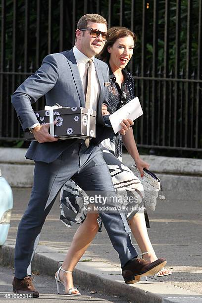 Dermot O Leary Seen Arriving At Fearne Cotton And Jesse Wood S Wedding Reception On July