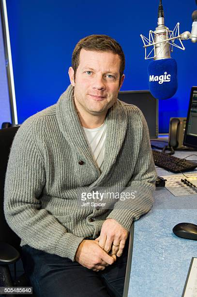 Dermot O'Leary visits Magic Radio at Kiss FM Studio's on January 18 2016 in London England