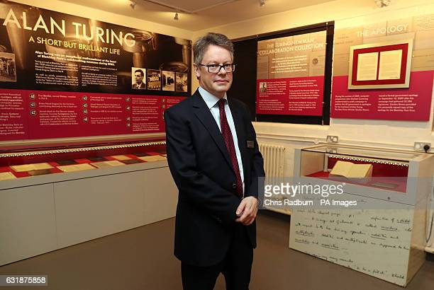 Dermot Turing the nephew of Enigma codebreaker Alan Turing with a rare notebook that belonged to his mathematician uncle which recently sold for...