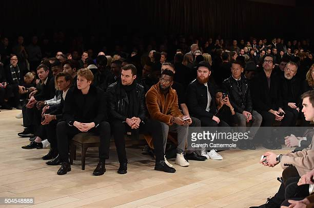 Dermott O'Leary Courtney Freckleton Jamal Edwards Lee Jong Suk Dougie Poynter Joe Alwyn Ed Skrien Tinie Tempah Rafferty Law Jack Garratt wearing...