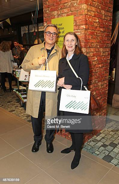 Dermott Rowan and Orla Kiely attend the preview party of John Lewis's 'Stories of a Shopkeeper' exhibition at the John Lewis Oxford Street Store on...