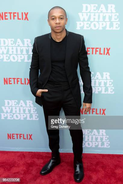 """DeRon Horton attends the """"Dear White People"""" Season 2 Special Screening on May 2, 2018 in Hollywood, California."""