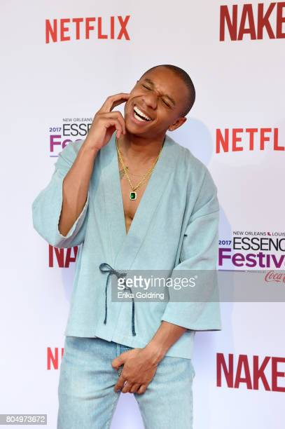 DeRon Horton attends the Premiere of Netflix Original Film Naked At The 2017 Essence Festival at Civic Theatre on June 30 2017 in New Orleans...