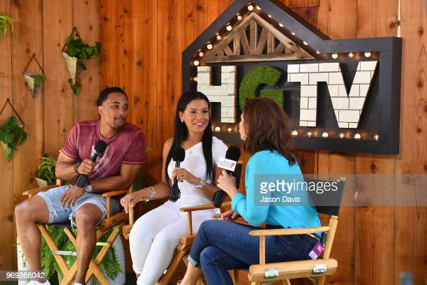 DeRon Jenkins and Page Turner of Flip or Flop Nashville are interviewed in the HGTV Lodge at CMA Music Fest on June 7 2018 in Nashville Tennessee