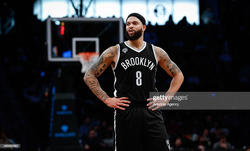 Deron Williams of the Brooklyn Nets in action during NBA basketball game between Brooklyn Nets and Miami Heat at the Barclays Center in the Brooklyn Borough of New York City, on December 16, 2014.