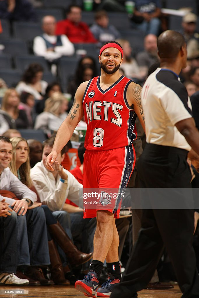 Deron Williams #8 of the New Jersey Nets during the game against the Charlotte Bobcats at the Time Warner Cable Arena on March 4, 2012 in Charlotte, North Carolina.