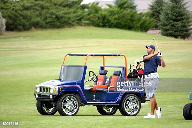 Deron Williams of the Utah Jazz holds his annual charity golf event The Point of Hope benefiting children with diabetes at Thanksgiving Point on July...