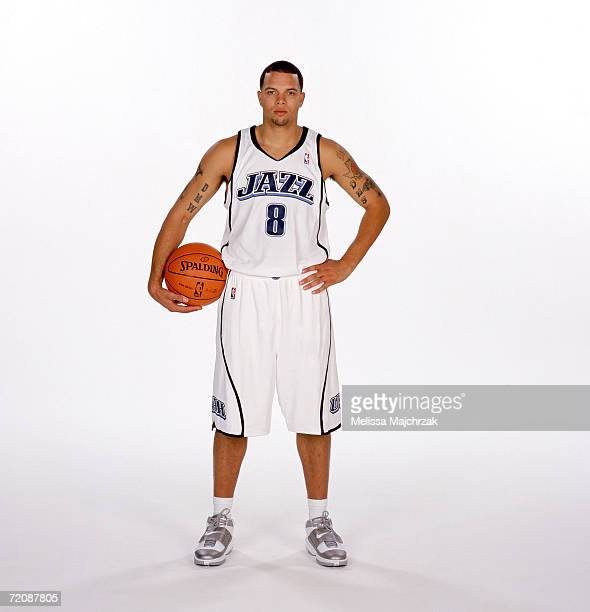 Deron Williams of the Utah Jazz poses during NBA Media Day on October 2 2006 at the Delta Center in Salt Lake City Utah NOTE TO USER User expressly...