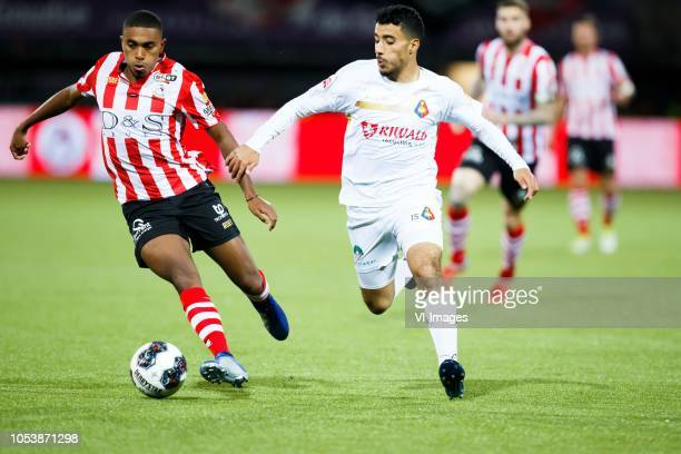Deroy Duarte of Sparta Rotterdam Anass Najah of Telstar during the First Division match between Sparta Rotterdam and SC Telstar at the Sparta stadium...