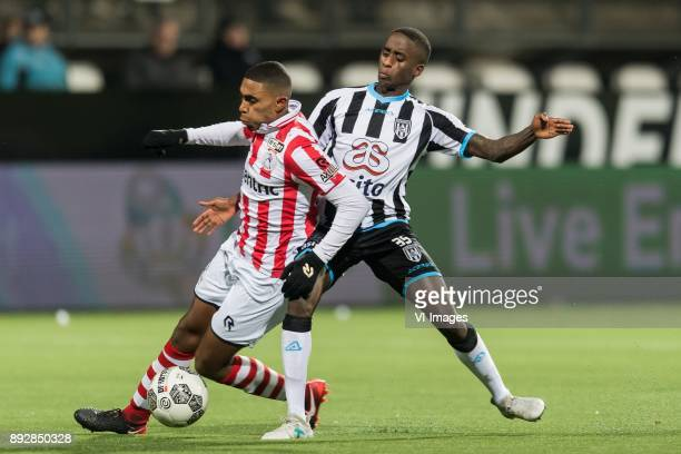 Deroy Duarte of Sparta Rotterdam Jamiro Monteiro of Heracles Almelo during the Dutch Eredivisie match between Heracles Almelo and Sparta Rotterdam at...
