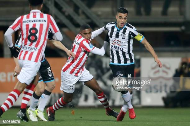 Deroy Duarte of Sparta Rotterdam Joey Pelupessy of Heracles Almelo during the Dutch Eredivisie match between Heracles Almelo v Sparta at the Polman...