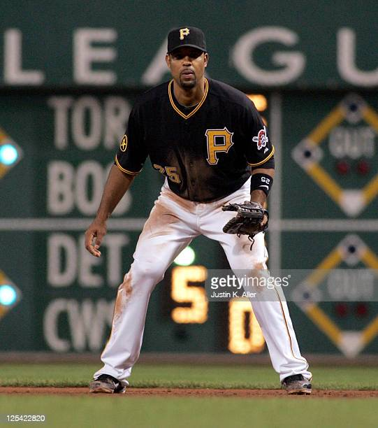 Derrek Lee of the Pittsburgh Pirates plays the field against the St Louis Cardinals during the game on September 13 2011 at PNC Park in Pittsburgh...