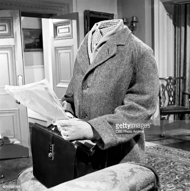 Derren Nesbitt and Patricia Jessel star in an episode of the CBS Television program 'The Invisible Man' The episode is titled 'Point of Destruction'...