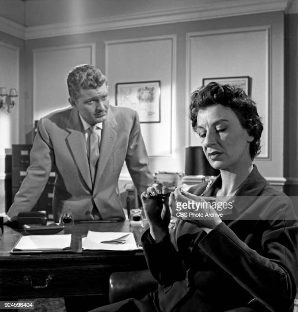 Derren Nesbitt and Patricia Jessel star in an episode of the CBS Television program The Invisible Man The episode is titled Point of Destruction...