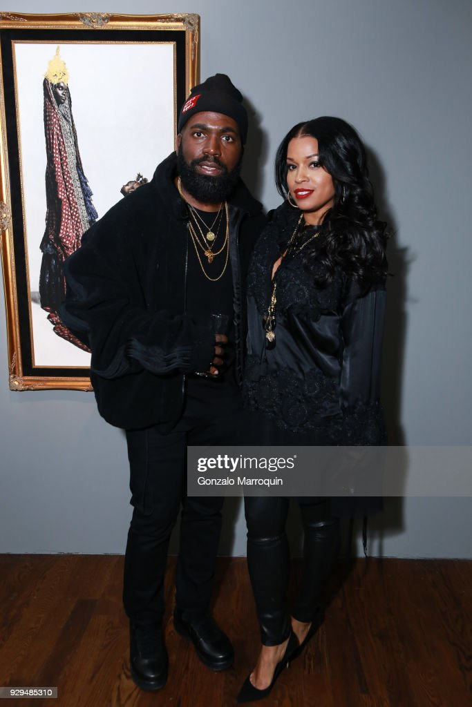 Derrick Adams and Mashonda Tifrere during the ArtLeadHER Presents 'Her Time Is Now' at Urban Zen on March 8, 2018 in New York City.