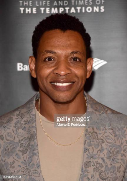 Derrick Baskin attends the after party for the Opening Night of Ain't Too Proud The Life And Times Of The Temptations at the Dorothy Chandler...