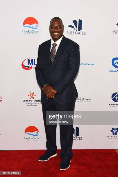 Derrick Brooks attends the 18th Annual Harold and Carole Pump Foundation Gala at The Beverly Hilton Hotel on August 10 2018 in Beverly Hills...
