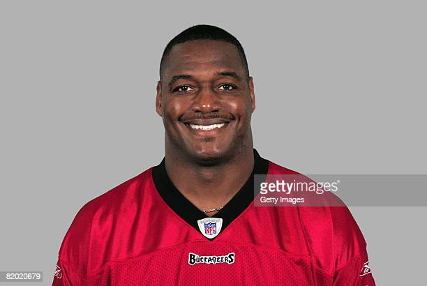 Derrick Brooks of the Tampa Bay Buccaneers poses for his 2008 NFL headshot at photo day in Tampa Florida