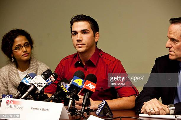 Derrick Burts 24 year old porn actor who tested positive for HIV holds a press conference calling for mandatory condom use on porn sets improved sex...