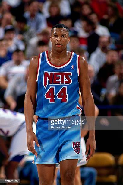 Derrick Coleman of the New Jersey Nets walks against the Sacramento Kings on January 28 1991 at Arco Arena in Sacramento California NOTE TO USER User...