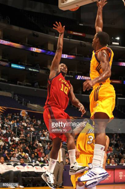 Derrick Dial of the Tulsa 66ers puts up a shot during the game against the Los Angeles DFenders at Staples Center on December 7 2008 in Los Angeles...