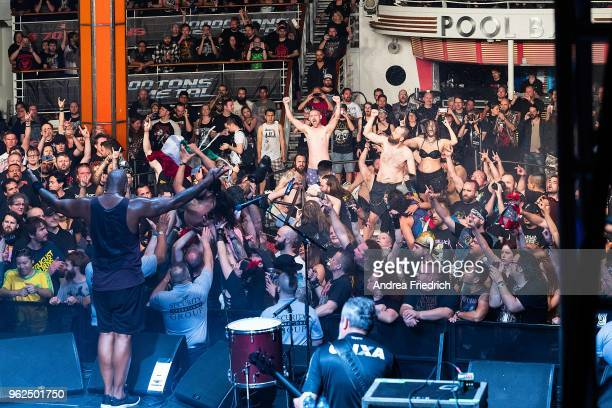 Derrick Green of Sepultura performs onboard the cruise liner 'Independence of the Seas' during the '70000 Tons of Metal' Heavy Metal Cruise Festival...