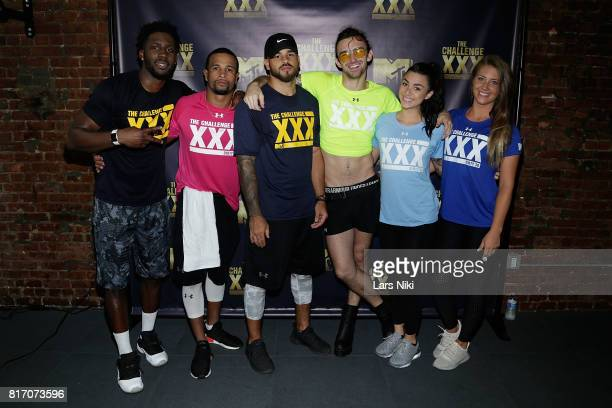 Derrick Henry Nelson Thomas Cory Wharton Chris Ammo Hall Kailah Casillas and Jenna Compono attend The Challenge XXX Ultimate Fan Experience at Exceed...
